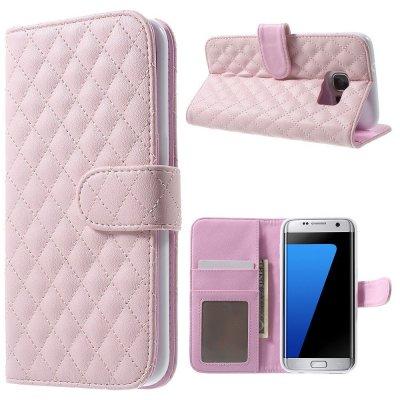 Mobilfodral rosa till Samsung Galaxy S7 Edge - Quiltmönster