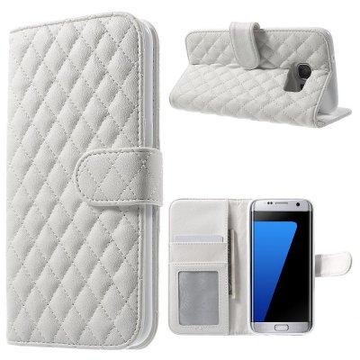 Mobilfodral vit till Samsung Galaxy S7 Edge - Quiltmönster