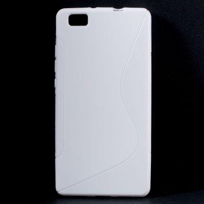 Flexibelt S-Design Skal till Huawei P8 Lite - Vit