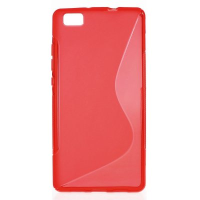 Flexibelt S-Design Skal till Huawei P8 Lite - Röd