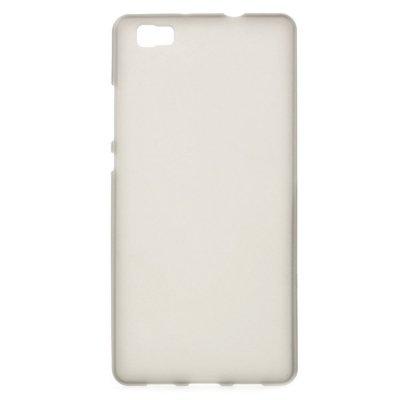 Skal till Huawei P8 Lite - Grå flexibelt skal med matt yta