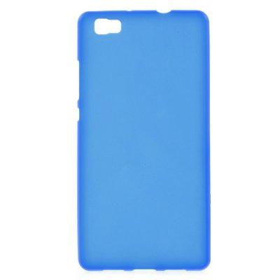 Skal till Huawei P8 Lite - Blå flexibelt skal med matt yta