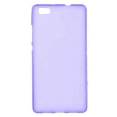 Skal till Huawei P8 Lite - Lila flexibelt skal med matt yta