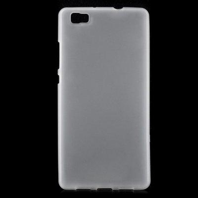 Skal till Huawei P8 Lite - Vit flexibelt skal med matt yta