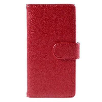 Plånboksfodral till Huawei P8 Lite - Röd litchi