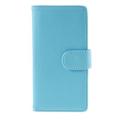 Plånboksfodral till Huawei P8 Lite - Blå litchi
