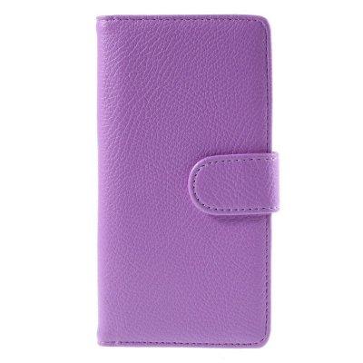 Plånboksfodral till Huawei P8 Lite - Lila litchi