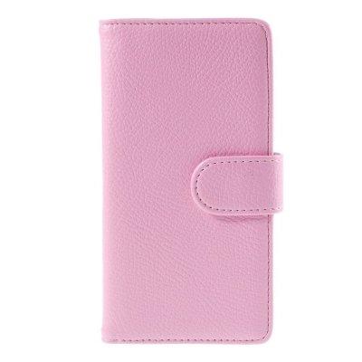 Plånboksfodral till Huawei P8 Lite - Rosa litchi