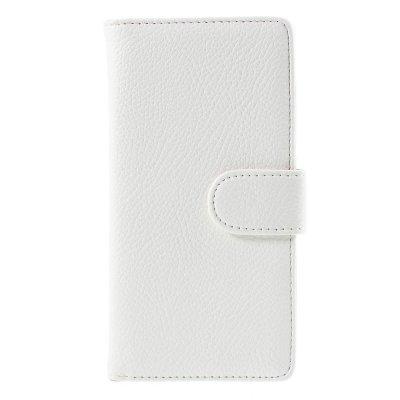 Plånboksfodral till Huawei P8 Lite - Vit litchi