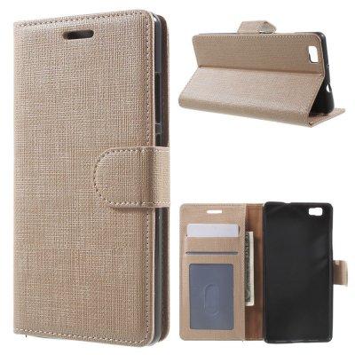 Plånboksfodral till Huawei P8 Lite - Beige texturerad yta
