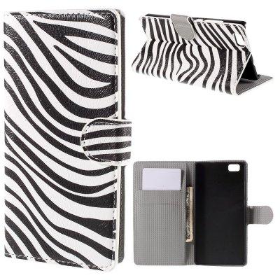 Mobilfodral till Huawei P8 Lite - Motiv zebra