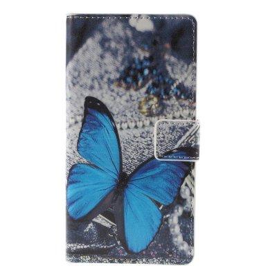 Mobilfodral till Huawei P8 Lite - Motiv blue butterfly