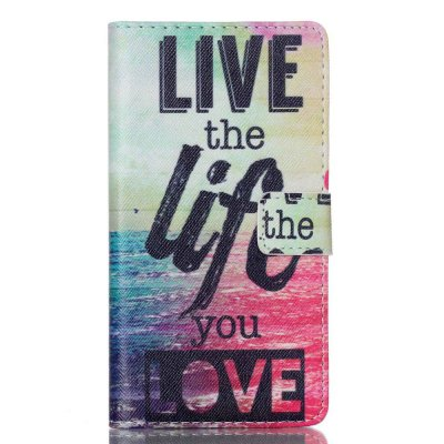 Mobilfodral till Huawei P8 Lite - Motiv Live the life you love