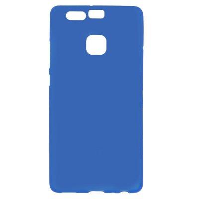 Flexibelt Skal till Huawei P9 - Blå TPU skal med matt yta