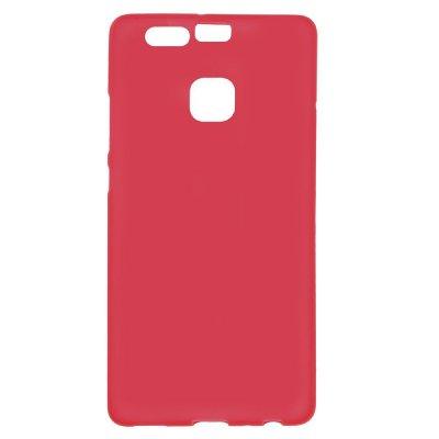 Flexibelt Skal till Huawei P9 - Röd TPU skal med matt yta