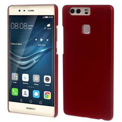 Hårt Skal Huawei P9 - Röd med gummiyta
