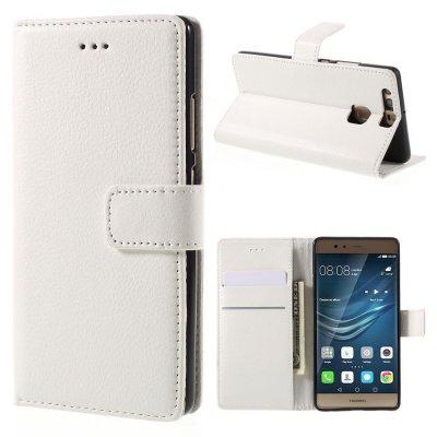 Mobilfodral Plånbok till Huawei P9 - Vit litchi