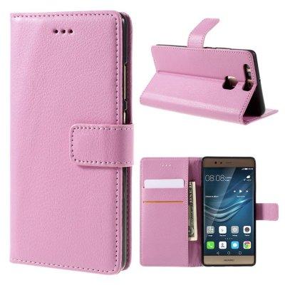 Mobilfodral Plånbok till Huawei P9 - Rosa litchi