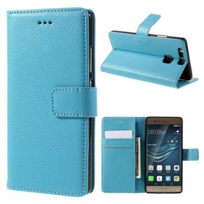 Mobilfodral Plånbok till Huawei P9 - Blå litchi