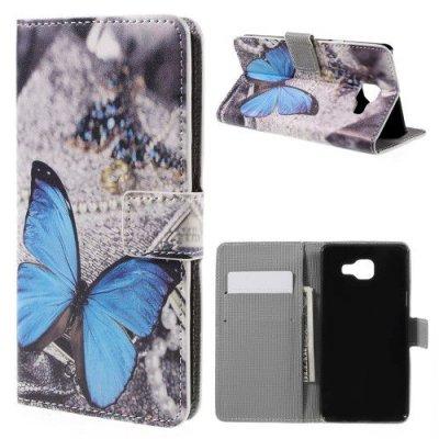 Mobilfodral till Samsung Galaxy A5 (2016) - Motiv Blue Butterfly