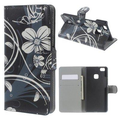 Mobilfodral till Huawei P9 Lite - Motiv fjärilsblomma