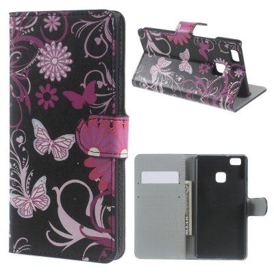 Mobilfodral till Huawei P9 Lite - Motiv fjärilar & blommor