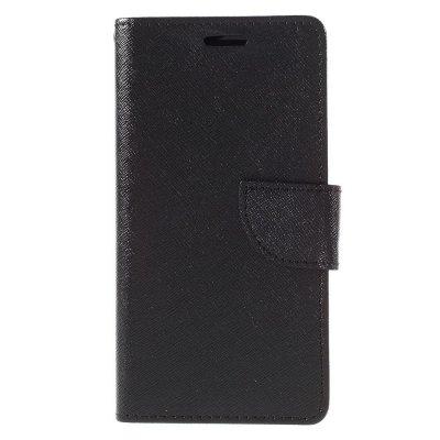 Plånboksfodral till Huawei P9 Lite - Svart texturerad yta