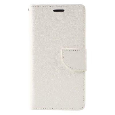 Plånboksfodral till Huawei P9 Lite - Vit texturerad yta
