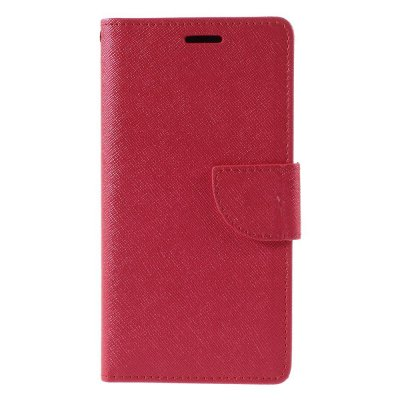 Plånboksfodral till Huawei P9 Lite - Röd texturerad yta