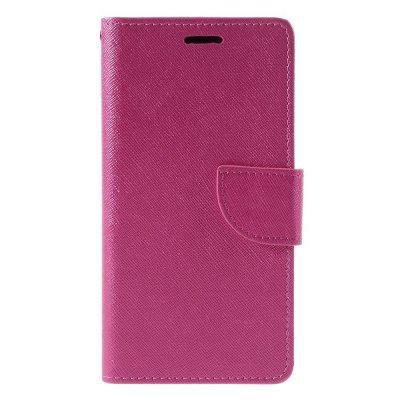 Plånboksfodral till Huawei P9 Lite - Rödrosa texturerad yta