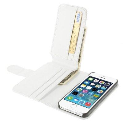 Plånboksfodral till iPhone 5/5S/SE Vit Multiple Card Slots