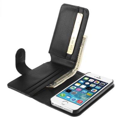 Plånboksfodral till iPhone 5/5S/SE Svart Multiple Card Slots