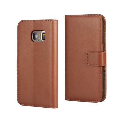 Plånboksfodral till Samsung Galaxy S7 - Brun