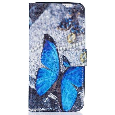 Plånboksfodral till Samsung Galaxy J5 2016 - Blue Butterfly