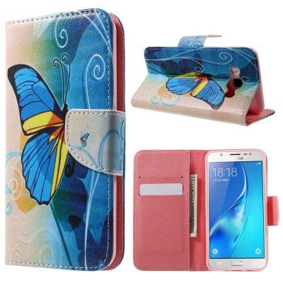 Plånboksfodral till Samsung Galaxy J5 2016 - Stor fjäril