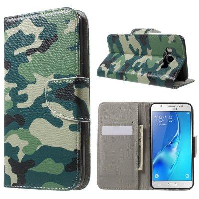 Plånboksfodral till Samsung Galaxy J5 2016 - Grön Kamouflage