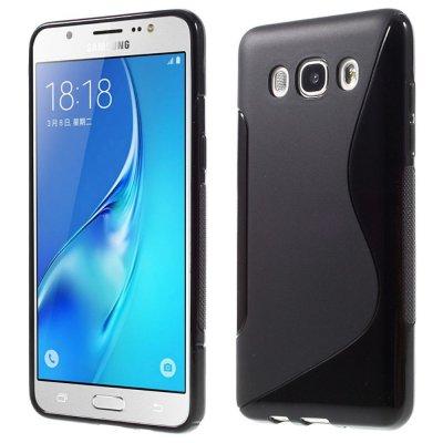 Flexibelt Skal S-Design till Samsung Galaxy J5 2016 - Svart