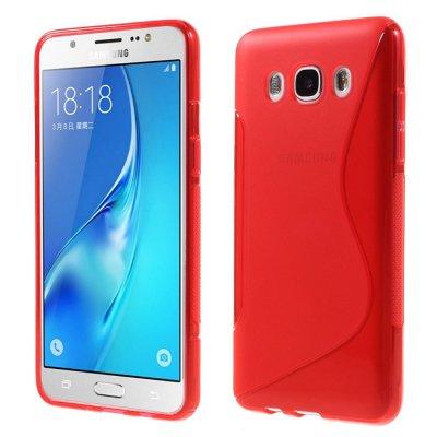 Flexibelt Skal S-Design till Samsung Galaxy J5 2016 - Röd