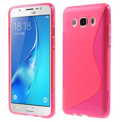 Flexibelt Skal S-Design till Samsung Galaxy J5 2016 - Rödrosa