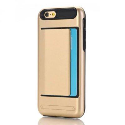 Skal till iPhone 7 4,7 tum med korthållare - Guld