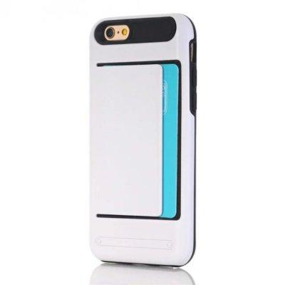 Skal till iPhone 7 4,7 tum med korthållare - Vit