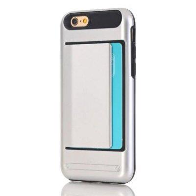 Skal till iPhone 7 4,7 tum med korthållare - Silver