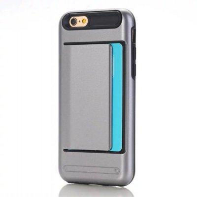 Skal till iPhone 7 4,7 tum med korthållare - Grå