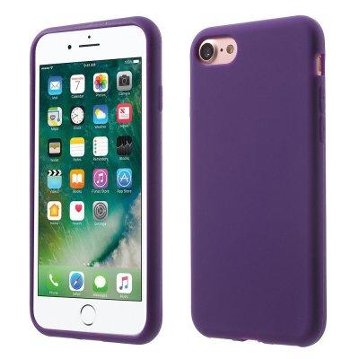 Silikonskal till iPhone 7 - Lila Mjukt & flexibelt skydd