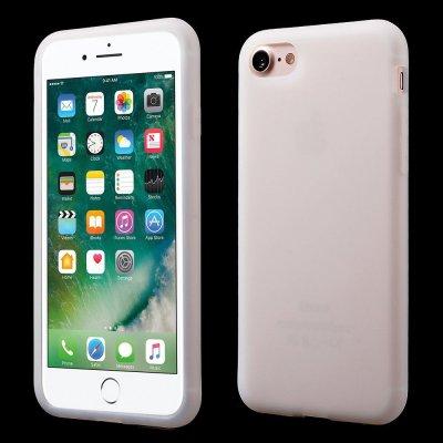 Silikonskal till iPhone 7 - Vit Mjukt & flexibelt skydd