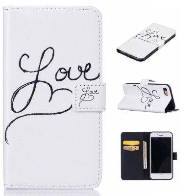 Plånboksfodral till iPhone 7 4,7tum - Vit med text love