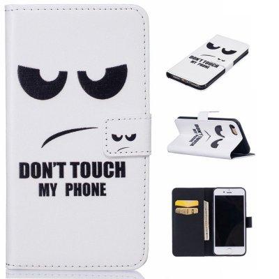 Plånboksfodral till iPhone 7 4,7tum - Vit med text
