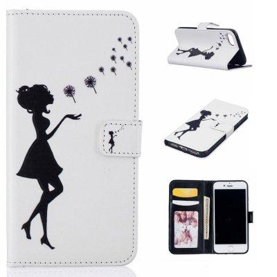 Plånboksfodral till iPhone 7 4,7tum - Motiv blåser maskros