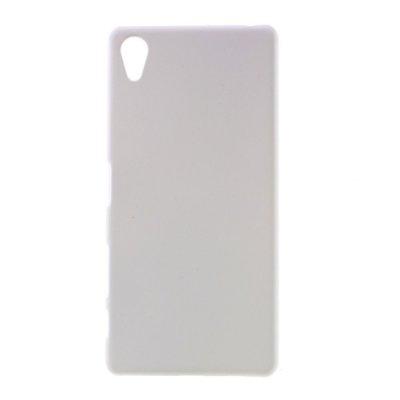Sony Xperia X Skal i Hårdplast - Vit med gummiyta för bättre grepp