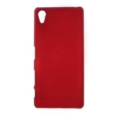 Sony Xperia X Skal i Hårdplast - Röd med gummiyta för bättre grepp
